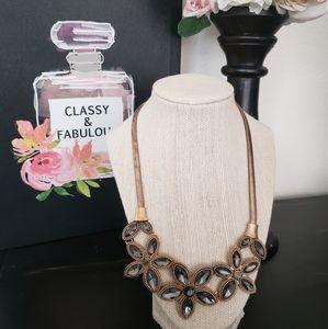 Blacklight Floral Statement Necklace